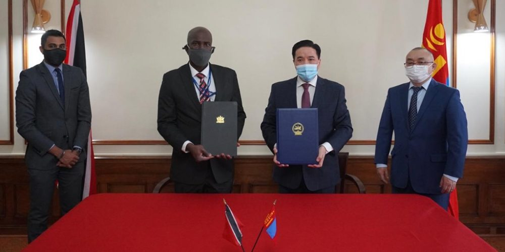 Diplomatic relations signed between Mongolia & Trinidad and Tobago