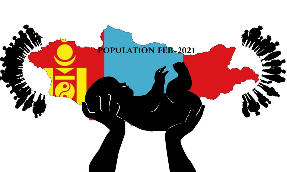 According to Electronic Birth Registration in Mongolia by the Ministry of Health, 5447 children were born in February 2021. As of Feb.28.2021 Population of Mongolia stands at 3,384,839. In February 2021, 5378 mothers gave birth to 5447 children out of which 2819 were male and 2628 were female.