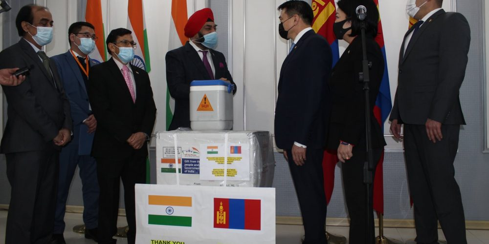 150,000 Covid-19 vaccine from India handed over to Mongolia